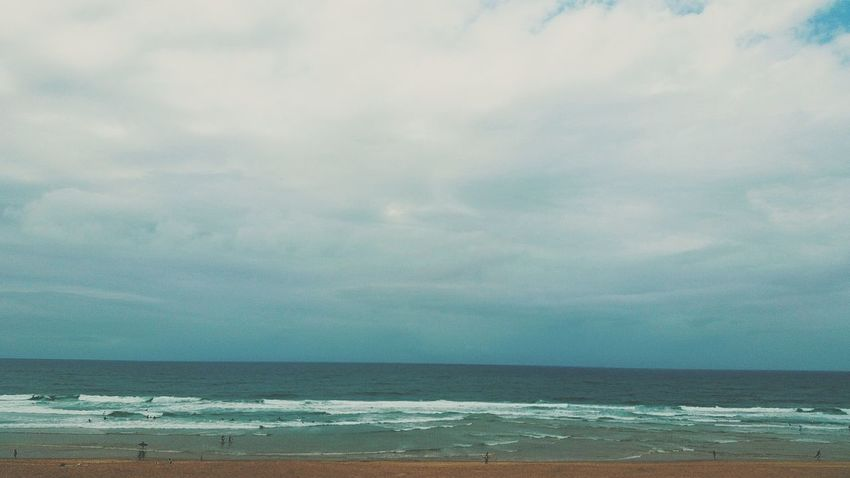 Slow dawn || Blue Sea Water Backgrounds Day Beach Beauty In Nature Outdoors Nature Textured  Sky Horizon Over Water Ocean France VSCO Plain Surf Storm