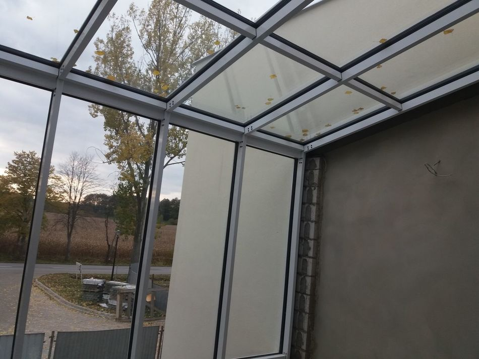 Metal Pattern Day Built Structure Architecture No People Indoors  Tree Greenhouse Sky Close-up fasada szklana