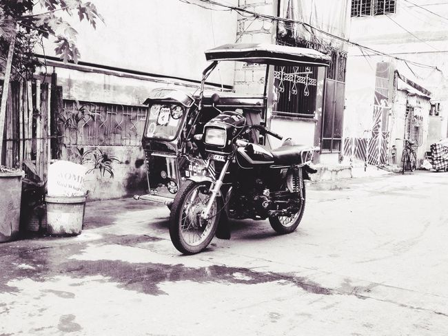 Streetview Streetphotography Tricycle More Fun In The Philippines  Onlyinthephilippines Blackandwhite Iosphotography IPhoneography