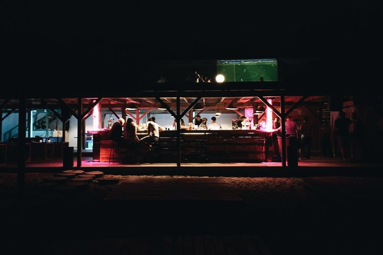 Beach Beach Bar Beach Evening Beach Life Beach Photography Dark Evening Football Illuminated Night Outdoor Bar Outdoor Pictures Spotlight