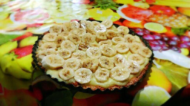 Pie Pieworld Bananapie Ilovepie Pietime. Pie With Tea Food Patisserie Tartelette Manger Eat Eating Couisine