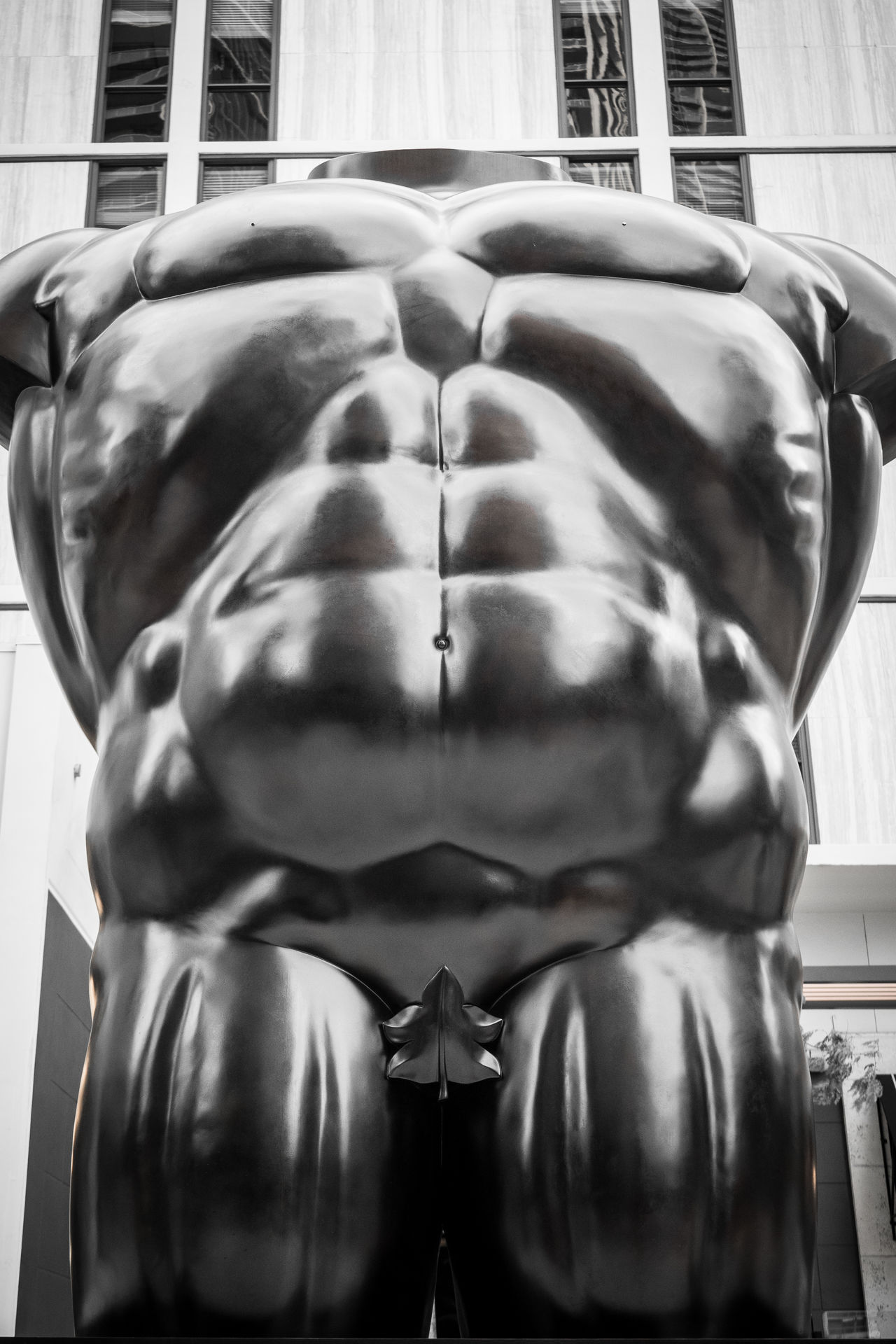 Impressive Six Pack and Tiny Fig Leaf Art ArtWork Belly Belly Button Blacknwhite_perfection Bodyart Bodybuilding Bw Bw_collection Fig Leaf Florida Free Impressive Leaf Make America Great Again Muscles Six Pack Small Statue Stealth Tiny Upper Body USA USAtrip