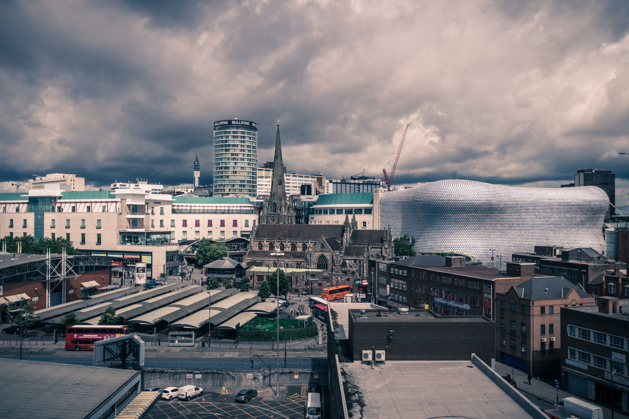 cloud - sky, architecture, sky, building exterior, built structure, city, storm cloud, outdoors, sea, water, day, cityscape, nature, no people