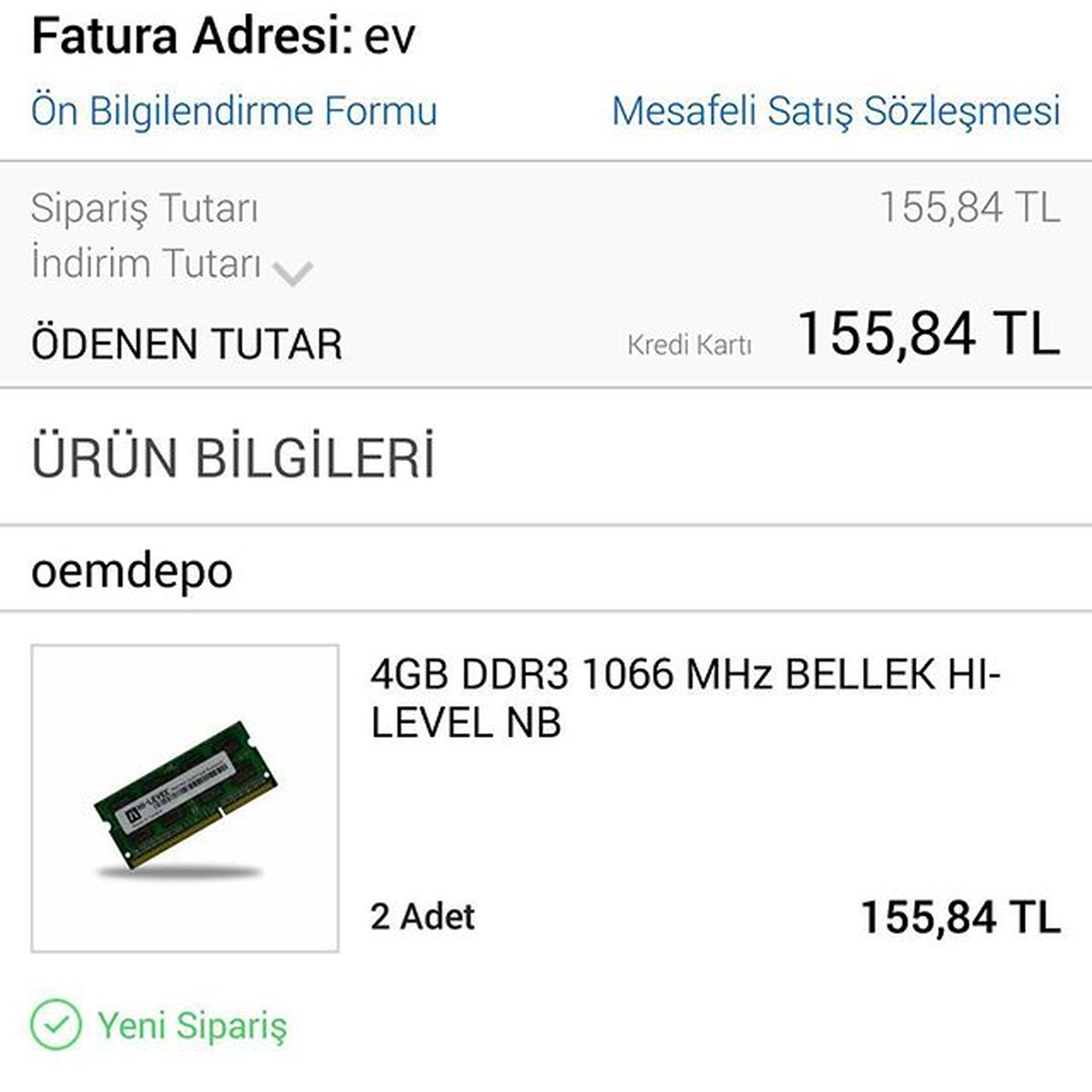 SSD den sonra az da RAM Upgrade edelim. Hilevel 8gb 4x2kit macbookpro teknotwit