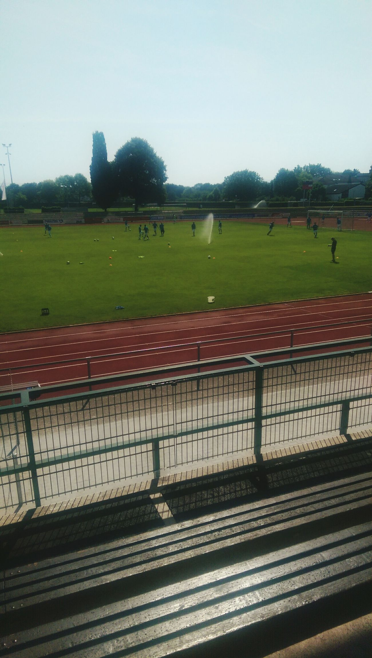 Soccer Game on German-French Border. Soccer C'est La Vie Summertime Kehl Mannheim