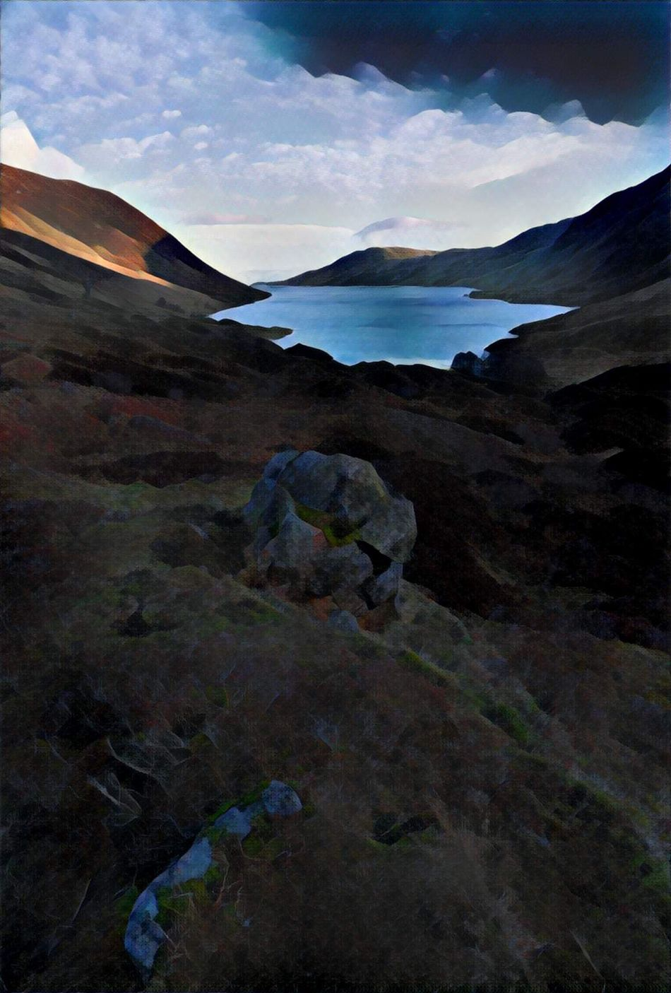 Glacial Art Perthshire Scotland Art Prisma App Mountains Landscape Tranquility Scotland 💕 Samyang 24mm 1.4 PENTAX K-1 Landscape_Collection Landscape Photography Nature Beauty In Nature
