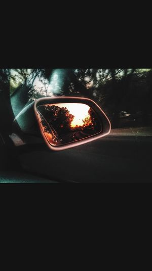 Sunset Photography Road Iphone6s Rear View Vehicle Mirror Captionthisphoto