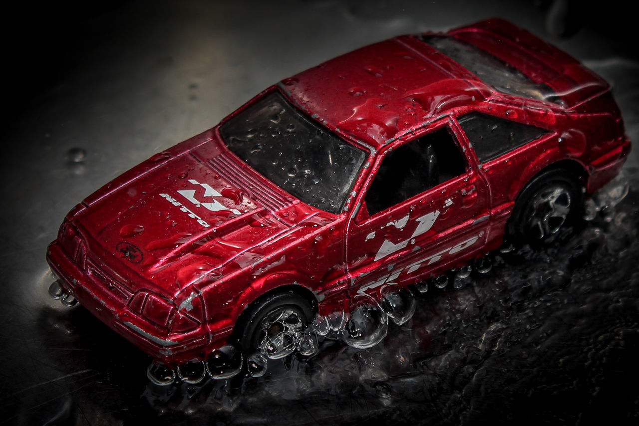 Auto Racing Car Close-up Miniature Motorsport No People Rain Red