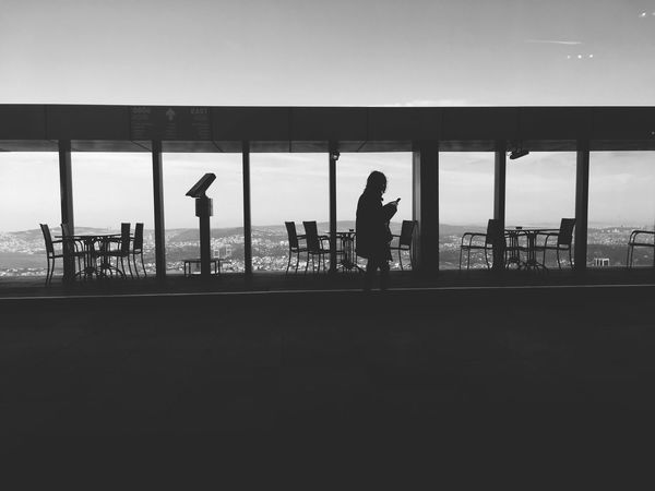 Silhouette Walking Men Real People Airport Day Full Length Built Structure Women Standing One Person Sky People Outdoors Architecture Adult