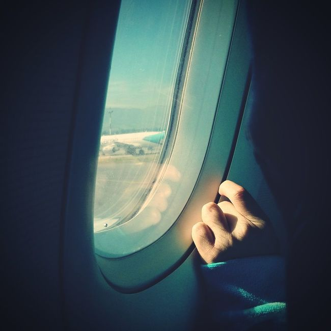 First time by airplane Quito Ecuador Airplane Window Airplane Window Chlidhood Let's Go. Together.