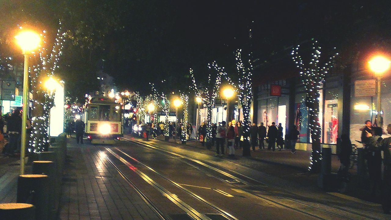 Cityscapes Powell street cable car San Francisco Color Of Life San Francisco Cable Car Nightphotography Night Lights