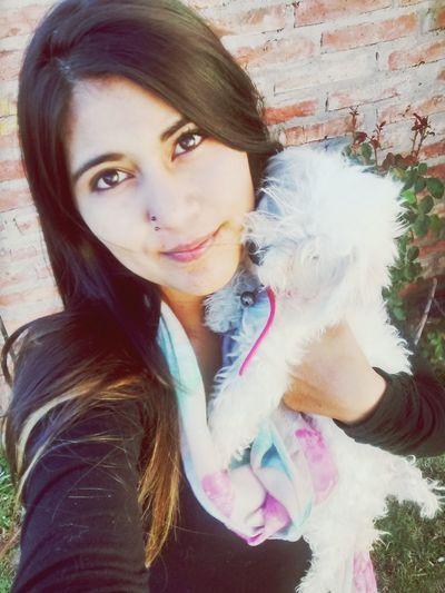 Con la mas bellaaa Perlitaa Bellaaa :)