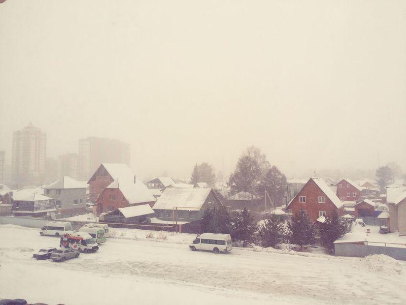 Снег в Матрешках Novosibirsk