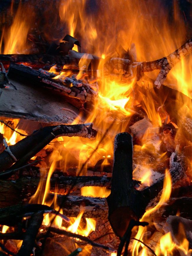 Burning Fire Inferno Conflagration Blaze Burning Flames & Fire Wood Burning Powerful Dangerous Nobody Vertical Colour Image