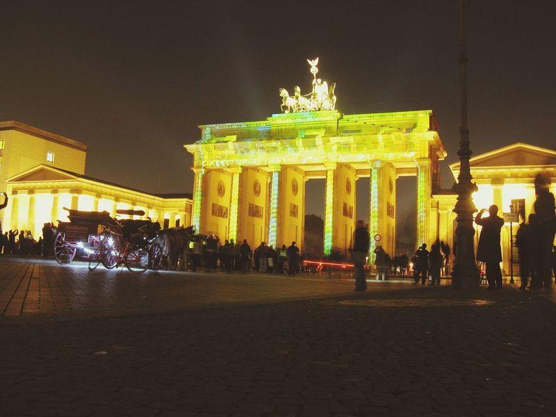 Brandenburger Tor. Night Lights Berlin Festivaloflights Berliner Lichter