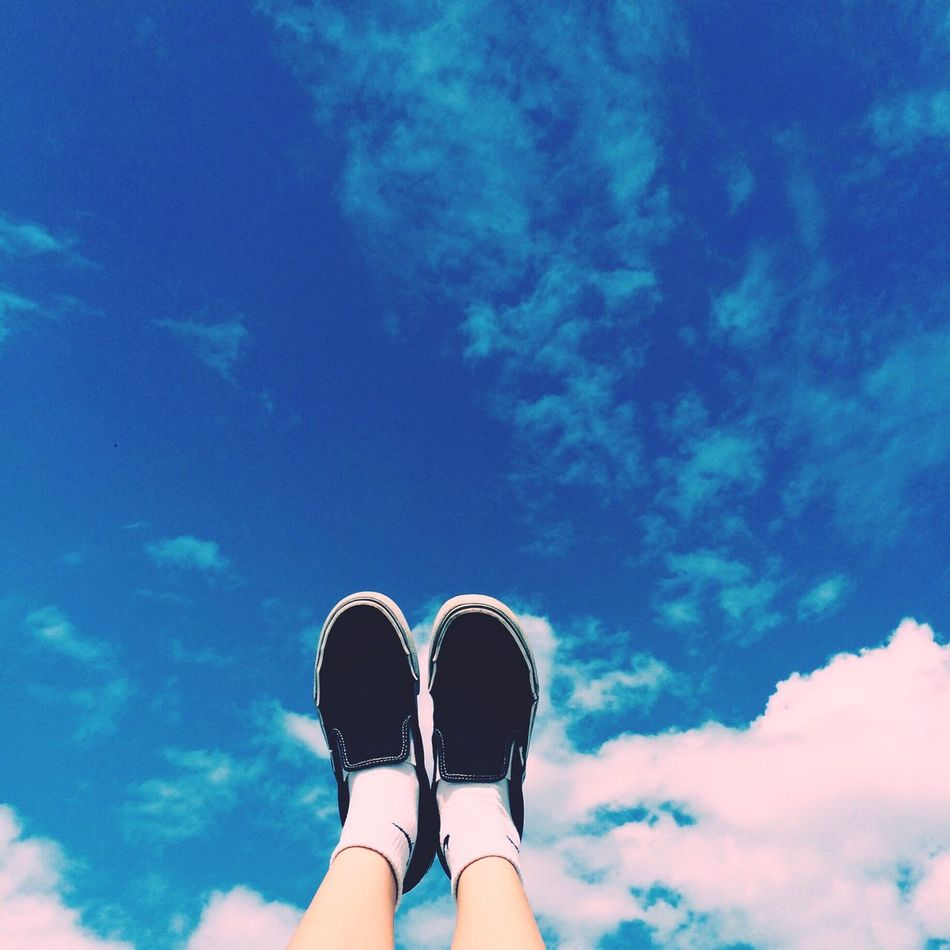 Sky Blue Lifestyle Roof Sunny Vans Slipon Clouds Art IPhoneography