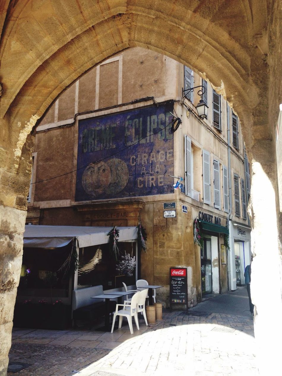 Aix En Provence Built Structure Architecture Chair Window Arch Sitting Day No People Indoors  Fresco