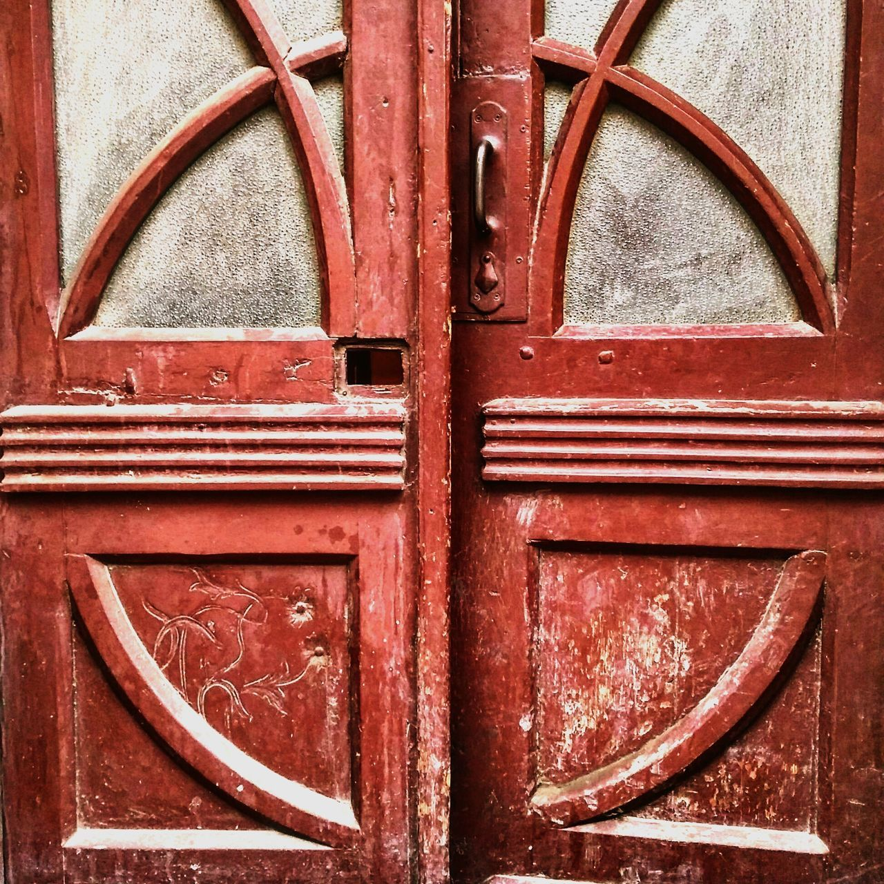 Art Deco Art Nouveau Art Nouveau Style Art Nouveau Door Secession Full FrameSecesja Door Closed Day Outdoors Red No People Close-up Backgrounds Hinge First Eyeem Photo