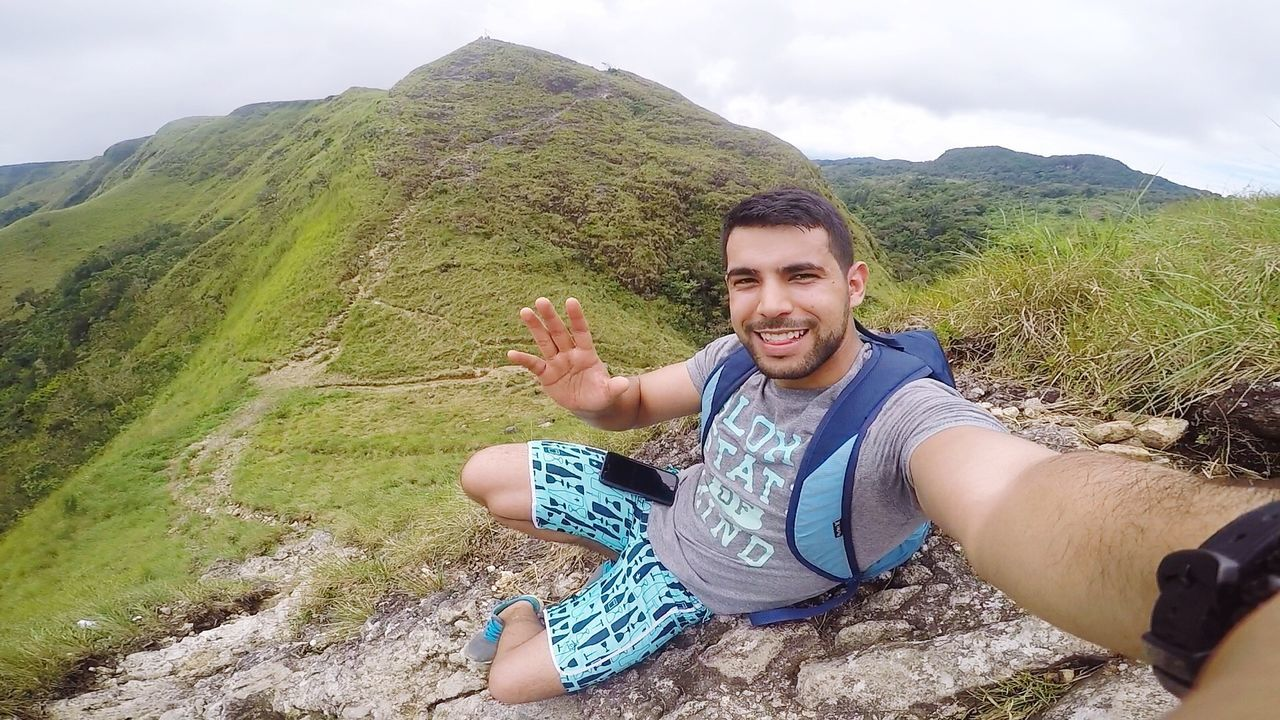 Photography Themes Smiling Young Men Mountain Lifestyles Nature Men Young Adult Hiking Looking At Camera Happiness Leisure Activity Selfie Relaxation First Eyeem Photo