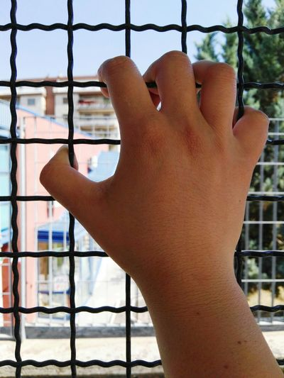 One Woman Only Only Women One Person Adult Day Adults Only Outdoors People Sunlight One Young Woman Only Close-up Young Adult Sky Escapereality Escape Caged Freedom Cage Hand