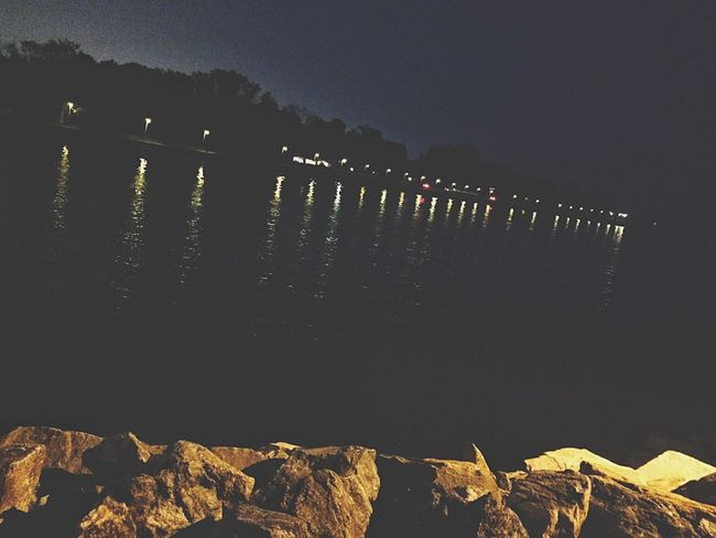 Walking on the pier at dusk... Pier Seawall Long Island Sound Sunset Dusk Outside Outdoors Masts Boats Beach Spring June Bridgeport  New England  Fairfield Connecticut Penfield Beach Lamppost Reflection Saint Mary's By The Sea