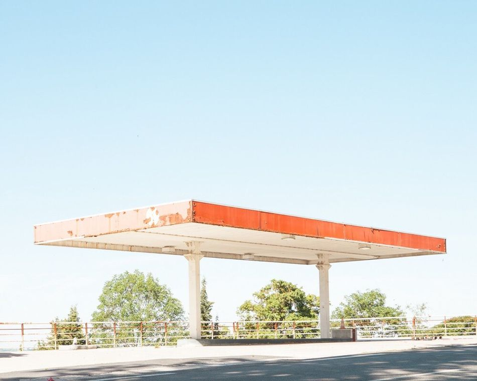 Architecture Clear Sky Day No People Contemporary Art Sunny Fine Art Photography Photography Minimalism Gaz Station Geometric Shape