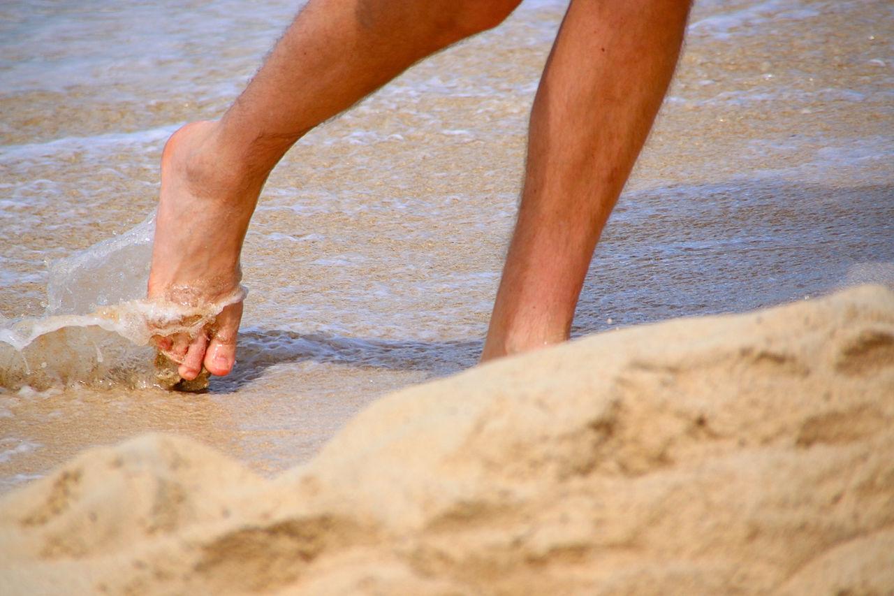Beautiful stock photos of legs, Barefoot, Beach, Day, Human Leg