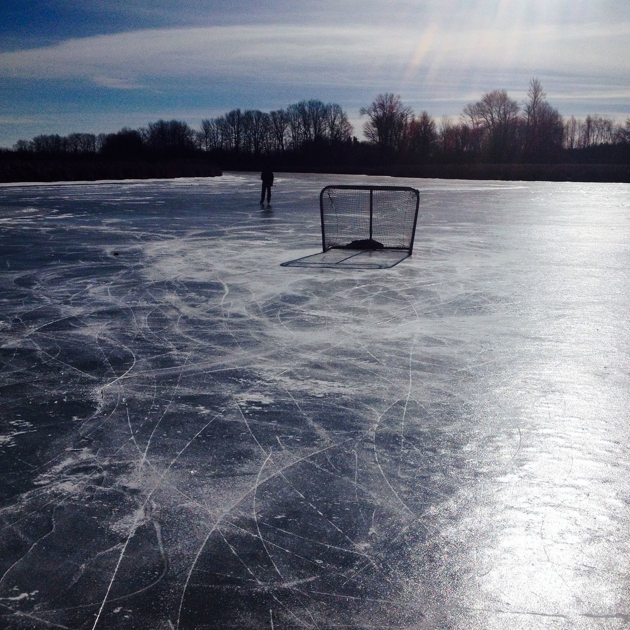 Snow Sports Cold Temperature Winter Nature Snow Outdoors Frozen Ice Water Hockey Pond Hockey Pond