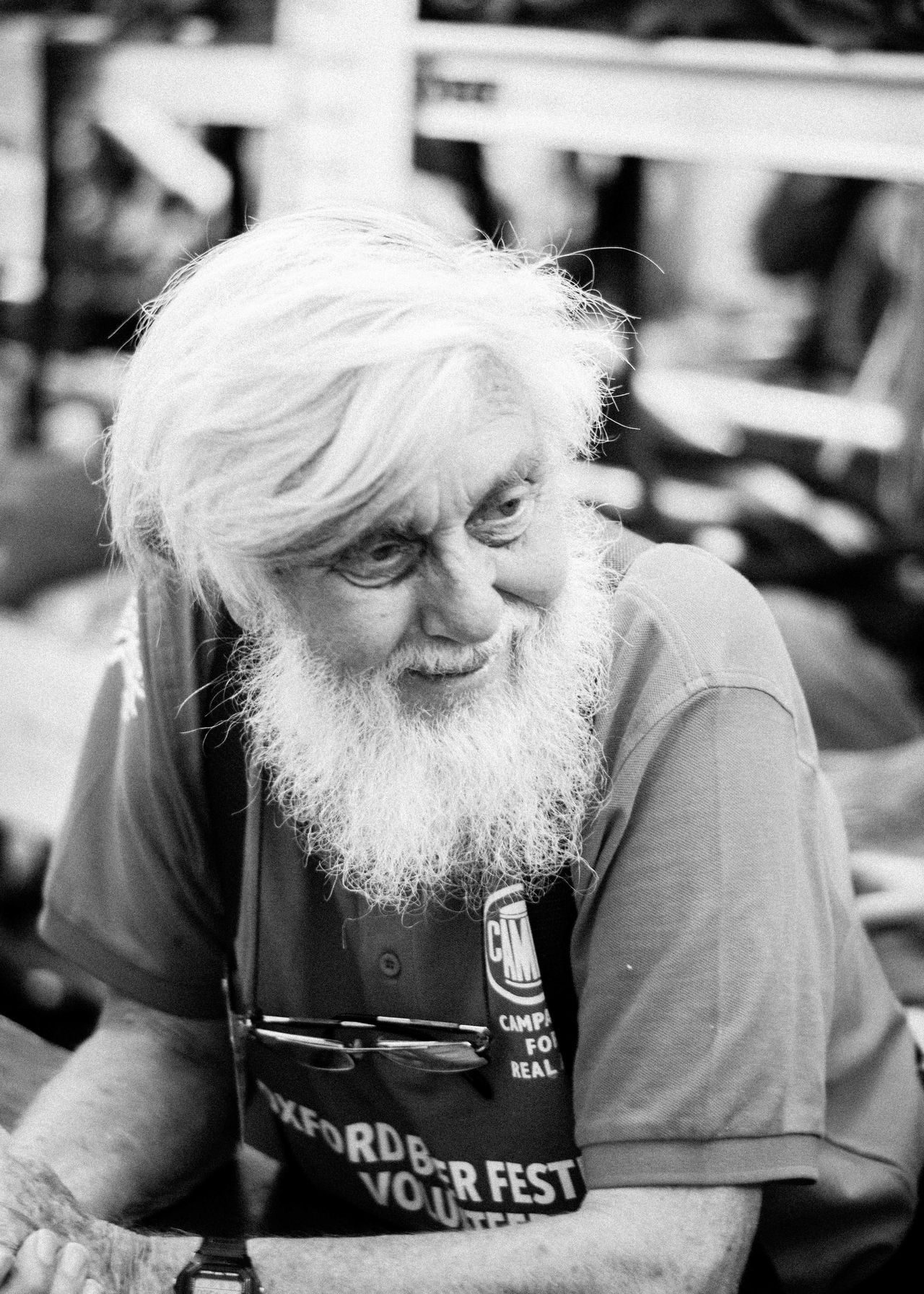 Beard Blackandwhite Focus On Foreground Front View Lifestyles Old Age Person Portrait