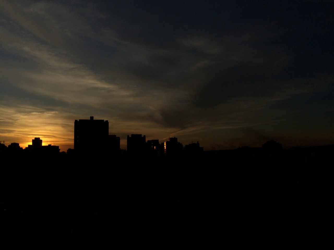 silhouette, sunset, architecture, sky, no people, building exterior, cityscape, skyscraper, city, nature, outdoors