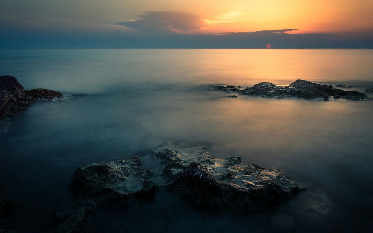 """We are like islands in the sea, separate on the surface but connected in the deep."" William James Long Exposure Longexposurephotography Sunset Sunlight Sunrise Sea Rocks Cliffs Reflection No People Beauty In Nature Refraction Seascape Seaside Shore Seashore Seascape Photography Landscape Landscape_Collection Nikon Nikonphotography Nikon D3200 Nature Photography Salento Scenics"