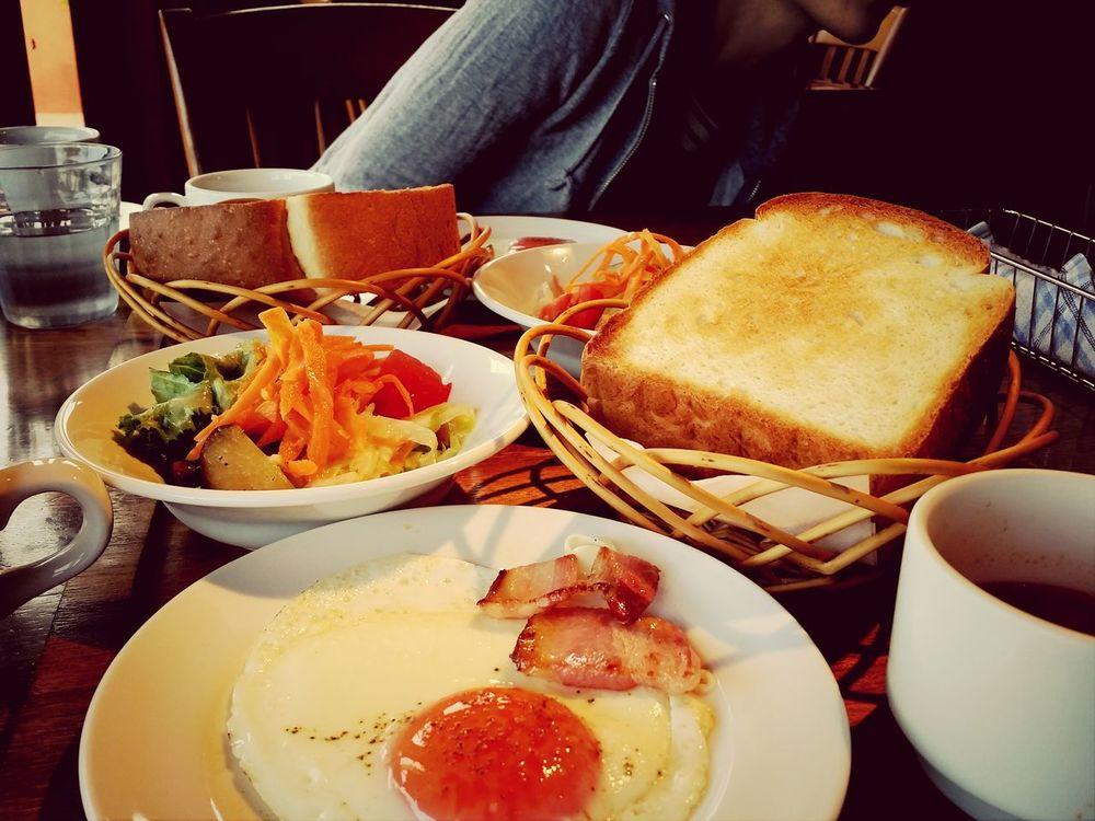 トースト分厚っ♡ Morning Breakfast Happyhappyhappy Friends ❤