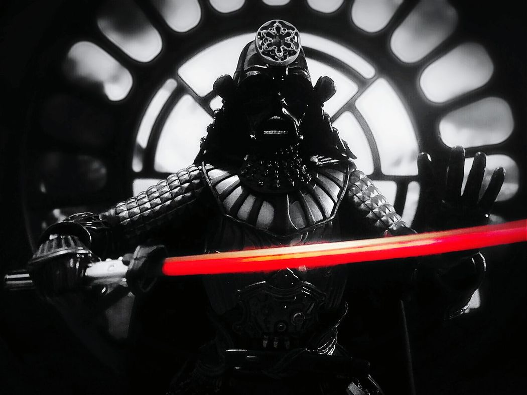 Under the Moonlight Movie Realization Samurai Taisho Darth Vader BANDAI Action Figures Toys Toy Photography