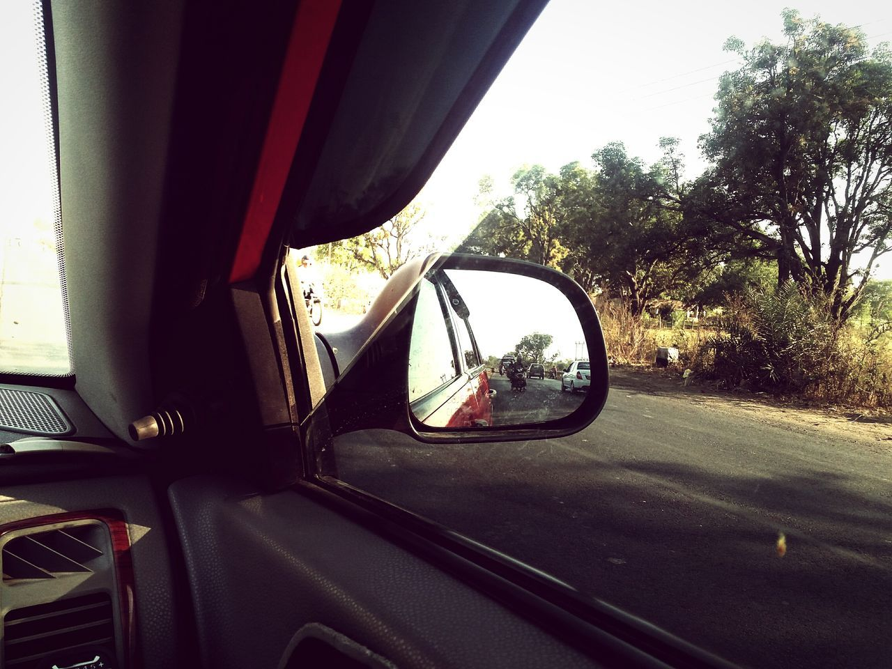 Car Transportation Vehicle Interior Mode Of Transport Land Vehicle Car Interior No People Outdoors Close-up Vehicle Mirror Outdoorlife Mobile Photography Edited This Myself Road Side Photography Road A Long Way To Go ... Scenics Light And Shadow Outdoor Photography Outdoors❤ EyeEm Best Edits Side-view Mirror
