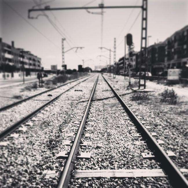 Blackandwhite Railroad
