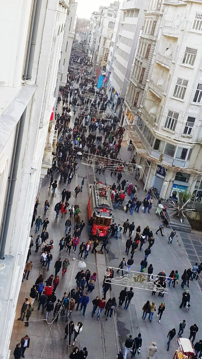 Taksim Istiklal Tramvay Stand Out From The Crowd Istanbul City Its Crowded In Here!! Beyoğlu Beyoğlu Redpoint
