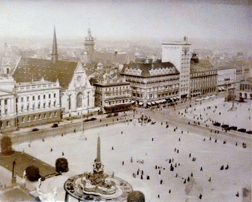 Urban 4 Filter Leipzig Augustusplatz circa 1930-1935 Photo Of A Photo Black & White Monochrome Old Picture