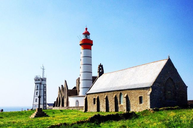 Lighthouse in Bretagne ! Saint Mathieu Church Colors End Of Europe France Colorful The Great Outdoors - 2016 EyeEm Awards EyeEm Gallery Photography Tranquility Taking Photos Enjoying Life Relaxing Clouds And Sky Blue Hanging Out Beautiful Walking Around Wonderful Light Green