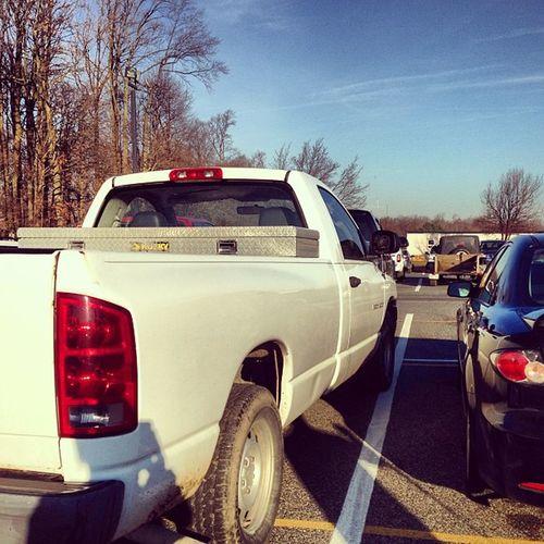 Morgans parking job 101. ManagedToHelpTheKidPark MorganPalmer Truck BadParkJob InTheIsile Crooked BigDummy DadsTruck