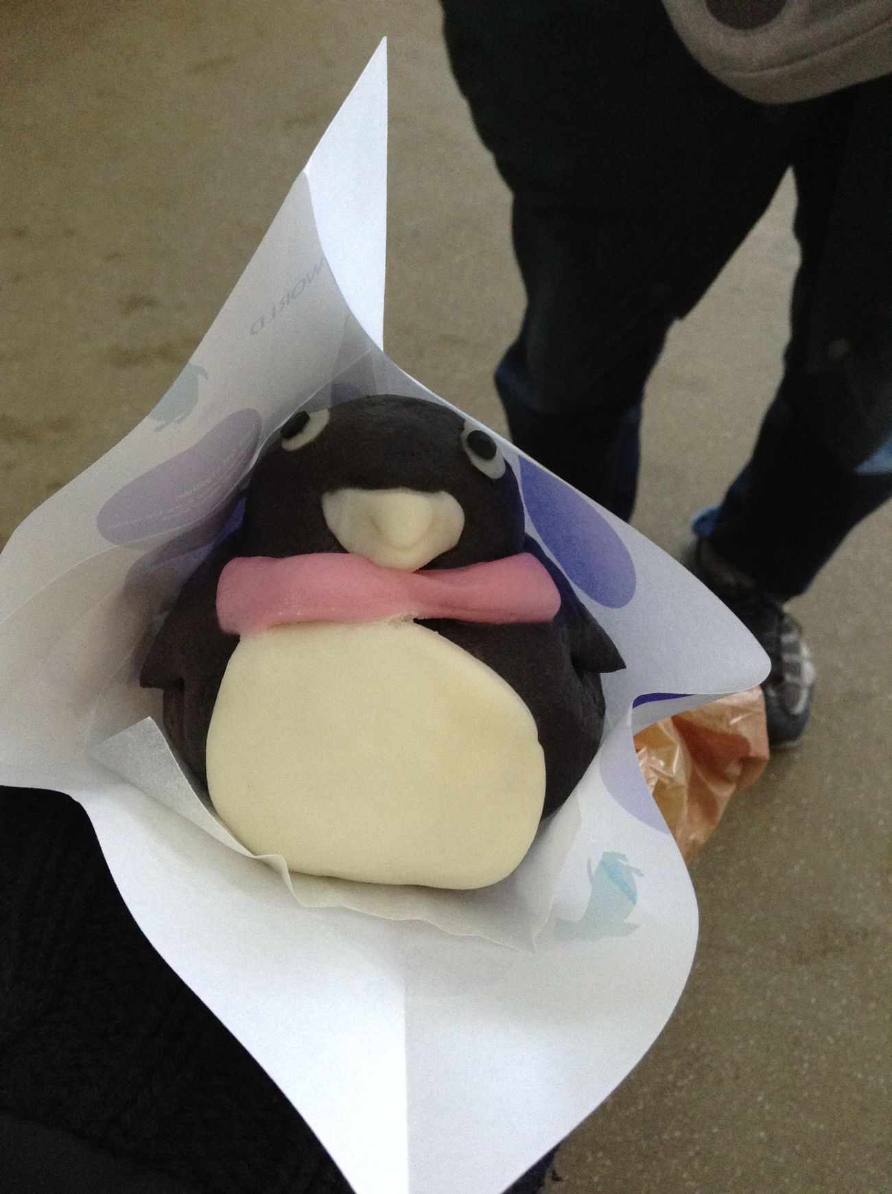 ぺんぎん Penguin Food ばん brBreadた目もかわいいけど味も美味しかった😋