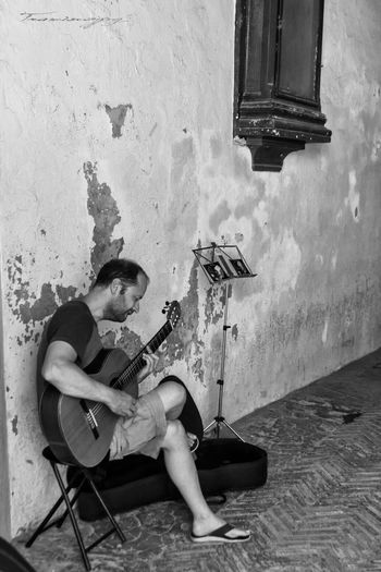 Guitarrista Franciscojpg Guitar Blackandwhite Black And White Blancoynegro
