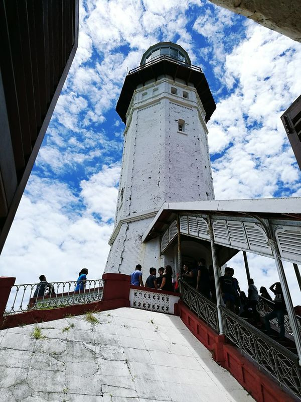 Cape Bojeador Lighthouse When In Ilocos Philippines Travelgram Lighthouse Clouds Sky Blue Sky View From The Window Ilocos Norte, Philippines  Tourist Destination Where To Go Ilocos Norte Vintage Tourist Spot Look Up