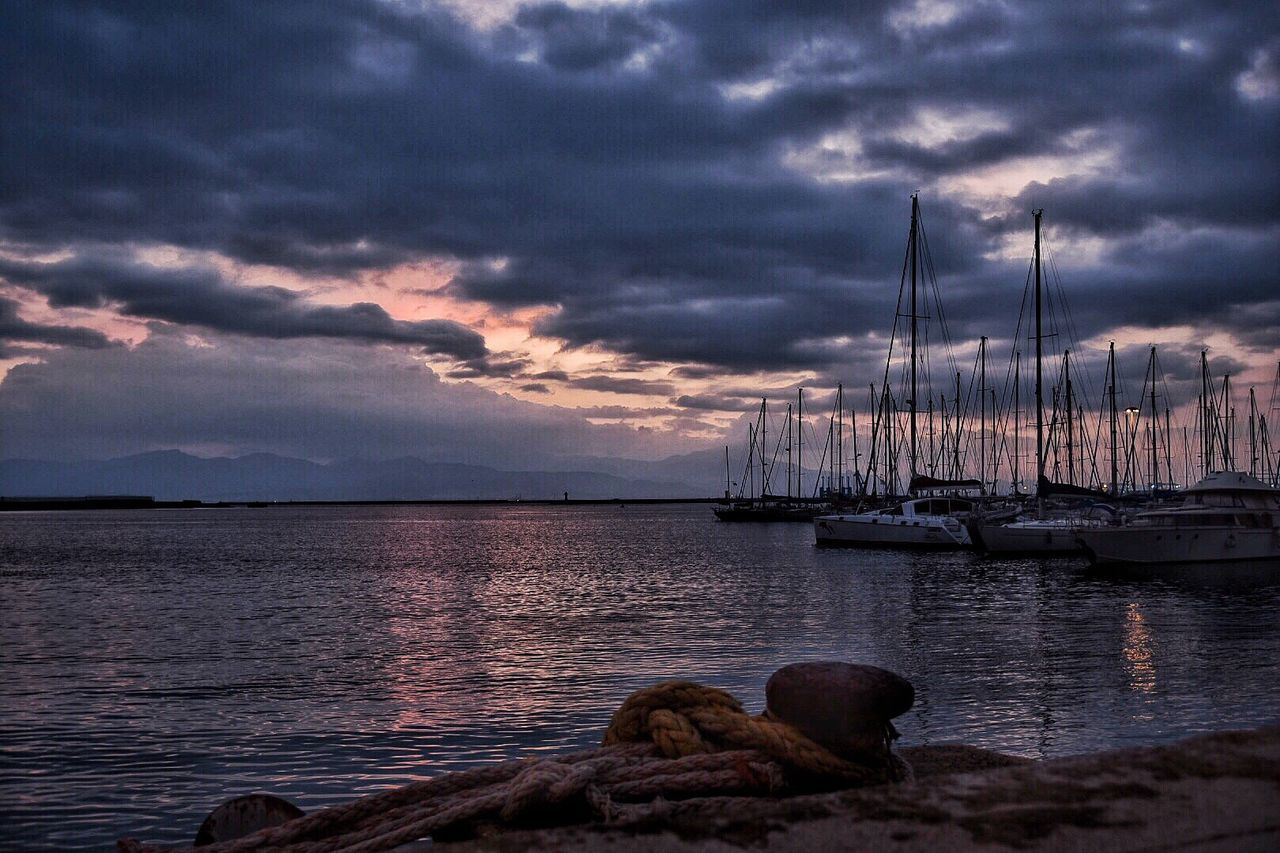 Sky Cloud - Sky Sea Nautical Vessel Water Transportation Beauty In Nature Nature Mode Of Transport Moored No People Mast Outdoors Sunset Scenics Horizon Over Water Sailboat Day Tramonti_italiani Cagliari Urban City Dramatic Sky Cagliari, Sardinia Eyem Best Shots Nature_collection EyeEmBestPics EyeEm Gallery