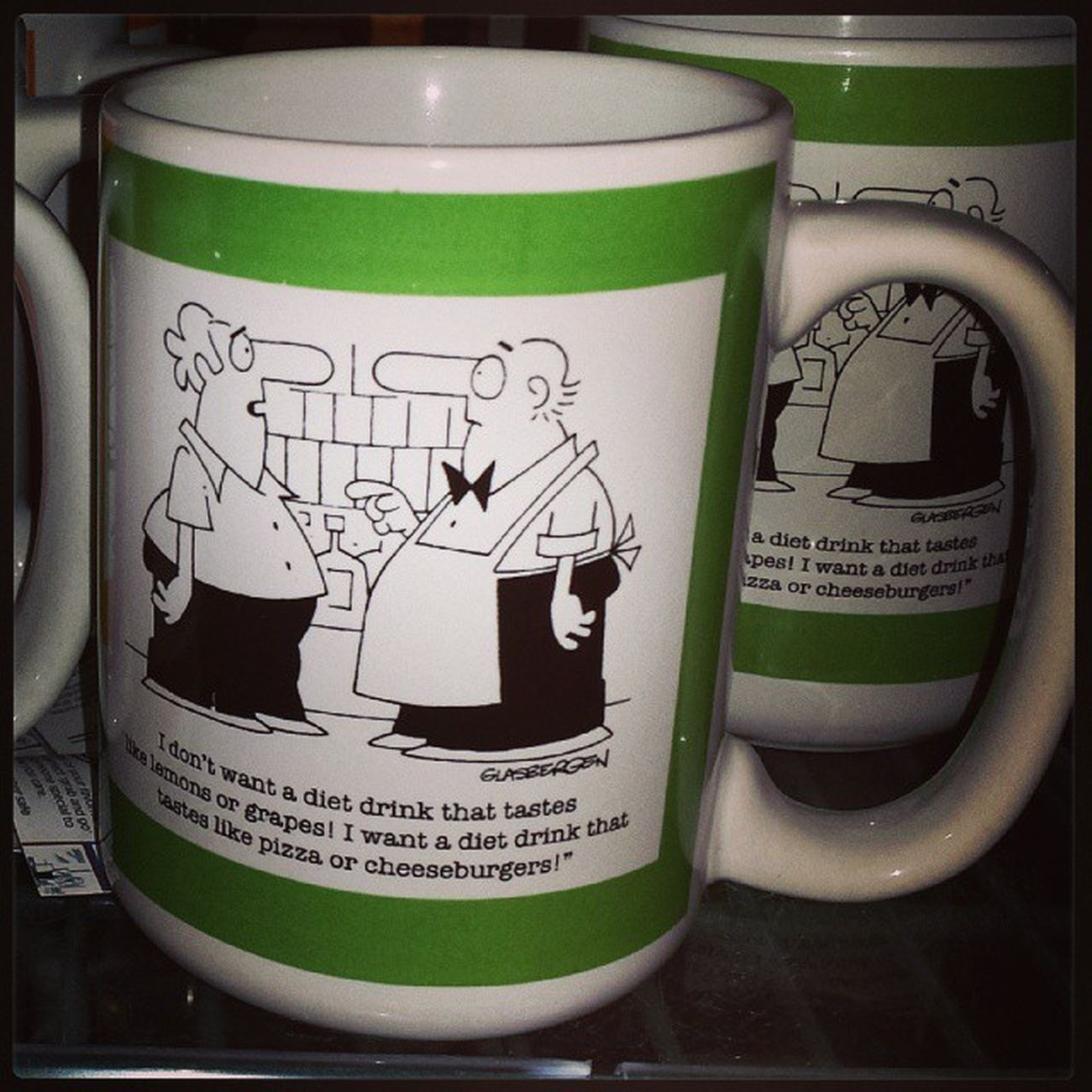This mug made me laugh so loud I could feel coffee in my nose.