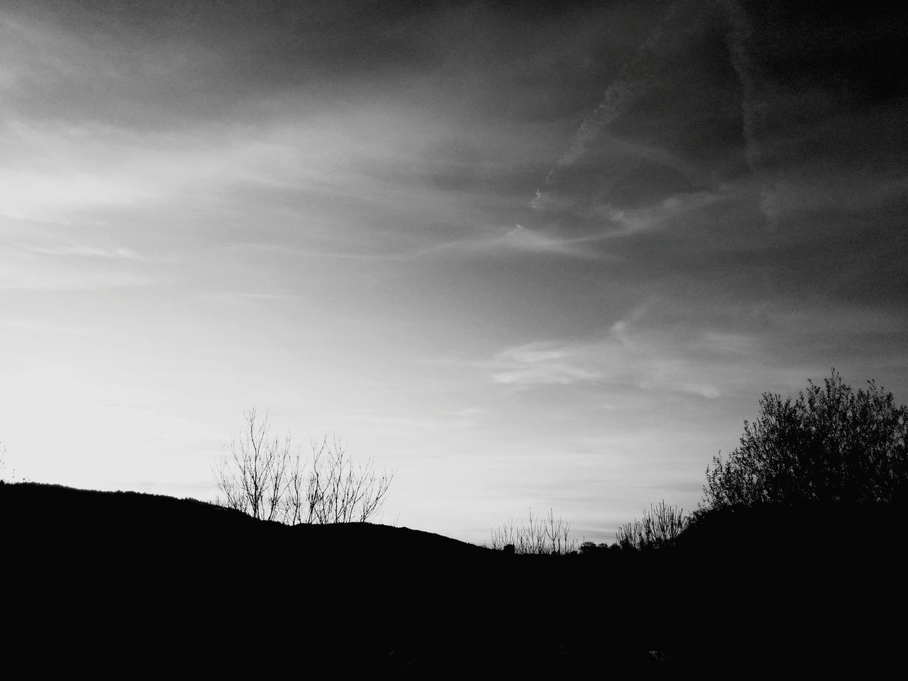 Sunset - Blackandwhite Landscape Sunset Zurich, Switzerland