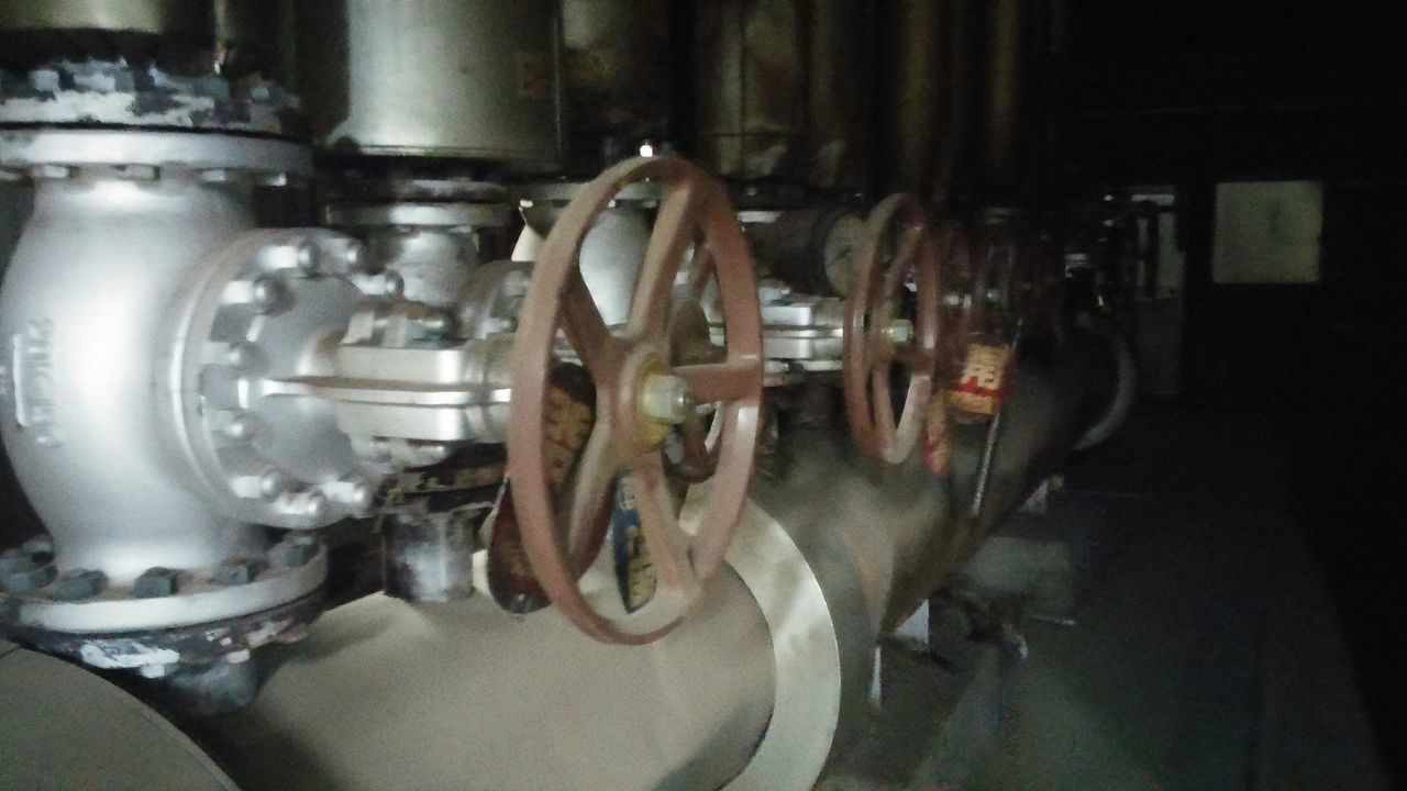 machinery, brewery, no people, faucet, indoors, distillation, close-up, illuminated, day