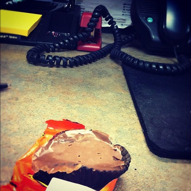 Day-11 Whereyouatebreakfast I was late to work so this is what I grabbed for breakfast and at my desk is where I had to eat it. If you were wondering it's a melted Reese's ? Aprilphotoaday Day11 Photooftheday ig igers igdaily igaddict igaddictdaily instaweb instafeed instagram instadaily instagrammers iphone4 iphonesia iphoneonly iphonegraphy iphonegrapher picoftheday fronwhereisit worksucks