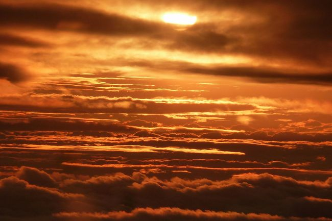 43 Golden Moments Beauty In Nature Cloud - Sky Cloudscape Dramatic Sky Golden Hour Majestic Moody Sky Multi Colored Orange Color Overcast Scenics Sky Spectecular Sunbeam Sunset Tranquil Scene Tranquility Weather A Bird's Eye View