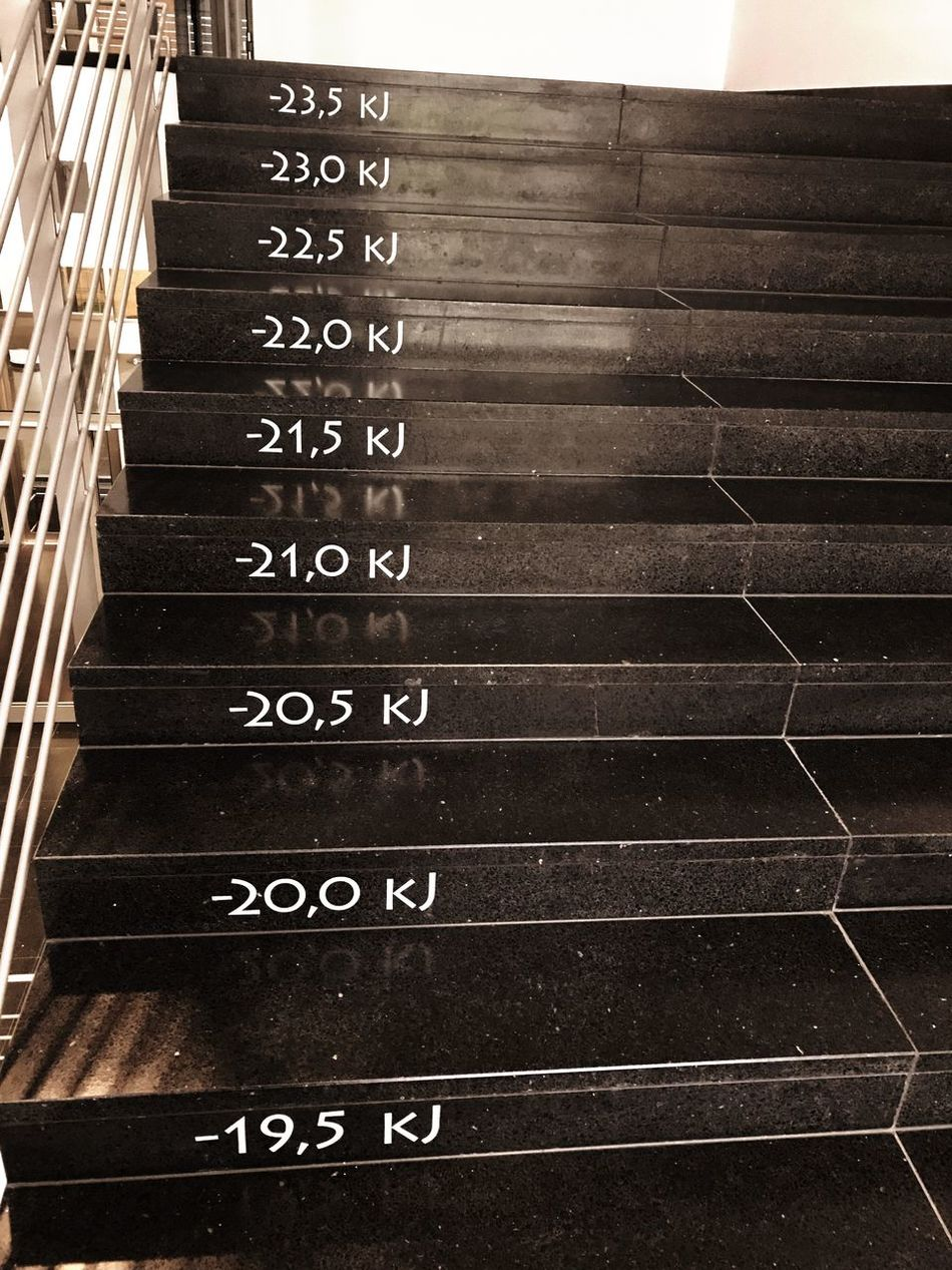 The staircase is displaying the amount of calories you burnt so far - healthy living concept Number Text Communication Indoors  Calories Staircase Stairs Healthy Lifestyle Healthy Healthy Living