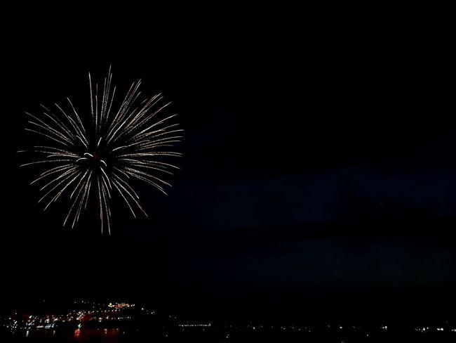 Firework Night Fireworks Citylights City Lights Citylight Light City Lights Dark Sea Darkness Spark Darkness And Light Sparks